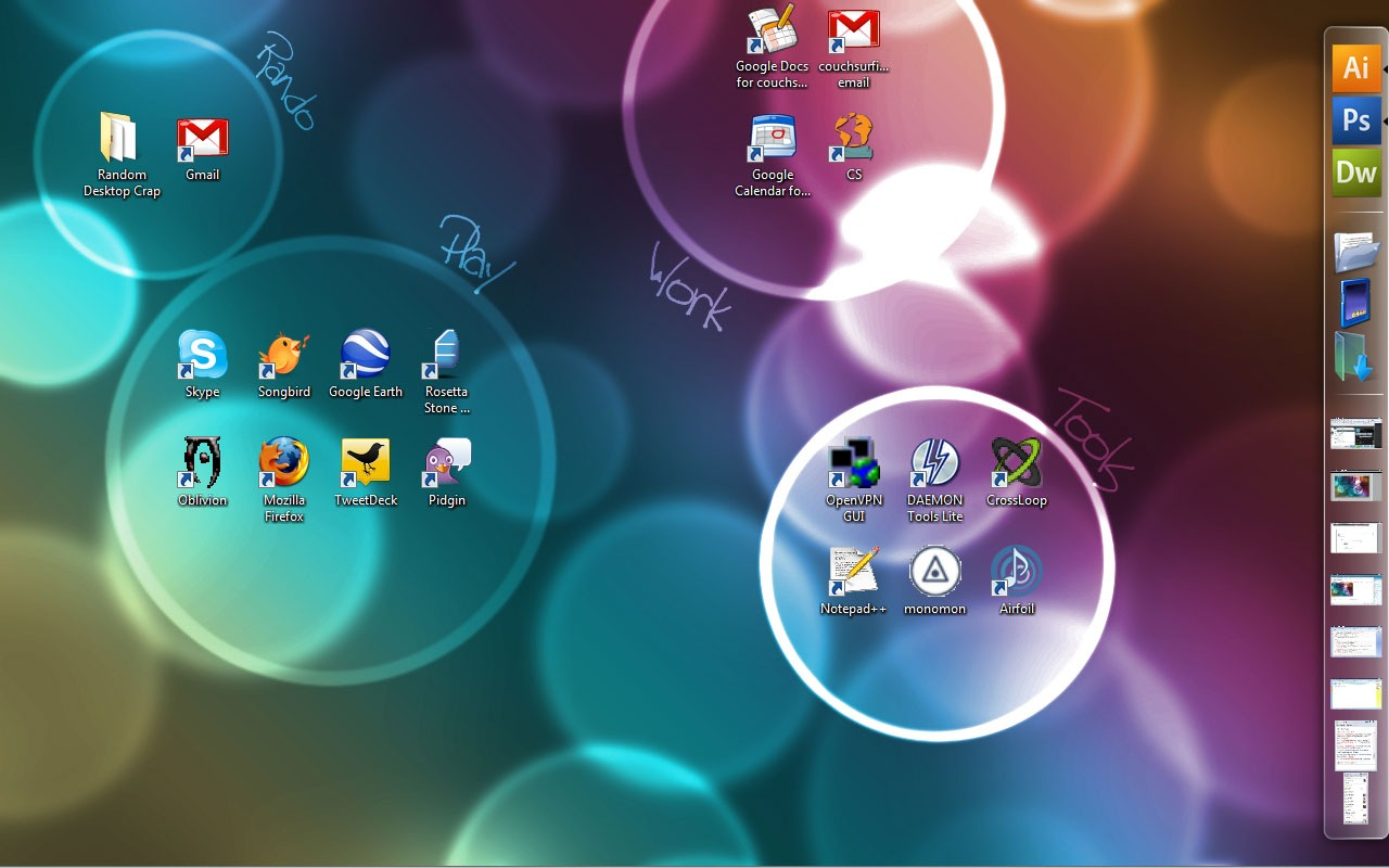 What's your desktop look like? - Ben Hanna